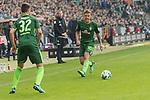 15.04.2018, Weser Stadion, Bremen, GER, 1.FBL, Werder Bremen vs RB Leibzig, im Bild<br /> <br /> Max Kruse (Werder Bremen #10)<br /> Florian Kohfeldt (Trainer SV Werder Bremen)<br /> Marco Friedl (Werder #32)<br /> <br /> Foto &copy; nordphoto / Kokenge