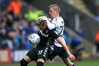 Bolton Wanderers' Stephen Darby competing with Leeds United's Ezgian Alioski <br /> <br /> Photographer Andrew Kearns/CameraSport<br /> <br /> The EFL Sky Bet Championship - Bolton Wanderers v Leeds United - Sunday 6th August 2017 - Macron Stadium - Bolton<br /> <br /> World Copyright &copy; 2017 CameraSport. All rights reserved. 43 Linden Ave. Countesthorpe. Leicester. England. LE8 5PG - Tel: +44 (0) 116 277 4147 - admin@camerasport.com - www.camerasport.com