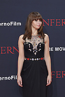 Felicity Jones attending the &quot;Inferno&quot; premiere held at CineStar, Sony Center, Potsdamer Platz, Berlin, Germany, 10.10.2016. <br /> Photo by Christopher Tamcke/insight media /MediaPunch ***FOR USA ONLY***