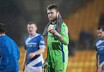 St Johnstone v Hamilton Accies…28.01.17     SPFL    McDiarmid Park<br />A fist pump from Zander Clark at full time<br />Picture by Graeme Hart.<br />Copyright Perthshire Picture Agency<br />Tel: 01738 623350  Mobile: 07990 594431