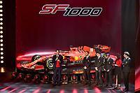 John Elkann, Sebastian Vettel, Charles LEclerc, Mattia Binotto <br /> REGGIO EMILIA (ITALY) 11/02/2020 - PRESENTAZIONE FERRARI SF1000 <br /> Formula one Ferrari SF1000 launch <br /> <br /> Photo Colombo / Scuderia Ferrari Press Office / Insidefoto <br /> Editorial USE ONLY <br /> The picture cannot be modified and must be reproduced in its entirety.