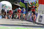 April 18th 2017, Innervillgarten, Austria; UCI Tour of the Alps mens cycling tour, stage 2; Australia's Rohan Dennis wins the stage in Innervillgarten. Start of the second stage of the cycling race Tour of the Alps from Innsbruck to Innervillgraten have been shorten with a start in Vipiteno due to weather conditions. French Thibaut Pinot (FDJ) is the new leader (second today).© Pierre Teyssot