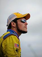 Oct. 3, 2009; Kansas City, KS, USA; NASCAR Nationwide Series driver John Wes Townley during the Kansas Lottery 300 at Kansas Speedway. Mandatory Credit: Mark J. Rebilas-