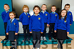 Ms Brosnan's junior infants class in Kilmurry NS on Thursday. Front l to r: Siabh O'Donoghue, Evie Cronin O'Connor and Abbie Walsh. Back l to r: Rian Fitzgerald, David Brown, Colm Brosnan, Darragh O'Connell and Daniel Furlong.