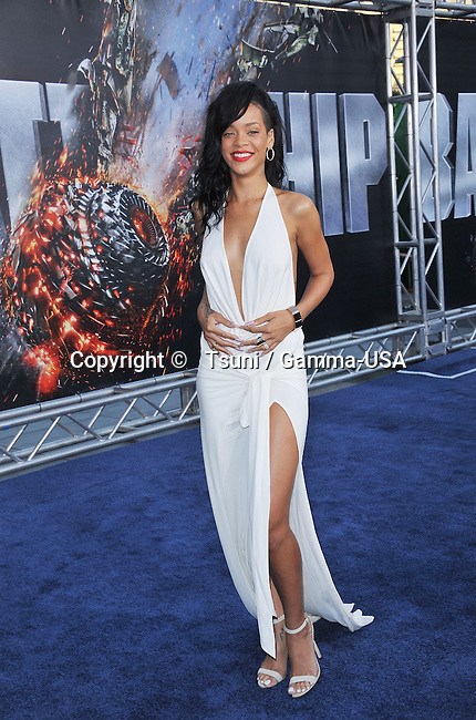 Rihanna at Battleship Premiere at the Nokia Theatre in Los Angeles.
