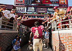 Florida State running back Dalvin Cook leaves the field after an NCAA college football game against Louisville in Tallahassee, Fla., Saturday, Oct. 17, 2015. Florida State defeated Louisville 41-21. (AP Photo/Mark Wallheiser) (AP Photo/Mark Wallheiser)