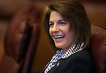 Nevada Attorney General Catherine Cortez-Masto participates in a press conference at the Legislative Building in Carson City, Nev., on Monday, Feb. 11, 2013..Photo by Cathleen Allison