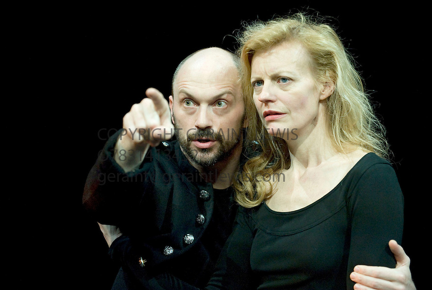 Macbeth by William Shakespeare,A Cheek by Jowl Production directed by Declan Donnellan,designed by Nick Ormerod.With Will Keen as Macbeth,Anastasia Hille as Lady Macbeth.Opens at The Barbican Centre on 24/3/10. Credit Geraint Lewis