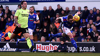 Ipswich Town's Matthew Pennington headers the ball<br /> <br /> Photographer Hannah Fountain/CameraSport<br /> <br /> The EFL Sky Bet Championship - Ipswich Town v Sheffield United - Saturday 22nd December 2018 - Portman Road - Ipswich<br /> <br /> World Copyright © 2018 CameraSport. All rights reserved. 43 Linden Ave. Countesthorpe. Leicester. England. LE8 5PG - Tel: +44 (0) 116 277 4147 - admin@camerasport.com - www.camerasport.com