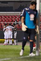 SÃO PAULO, SP, 21 DE AGOSTO DE 2012 - COPA SULAMERICANA - SÃO PAULO x BAHIA: Maicon comemora gol durante partida São Paulo x Bahia, válida pela primeira fase da Copa Sulamericana no Estádio do Morumbi. FOTO: LEVI BIANCO - BRAZIL PHOTO PRESS