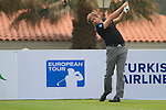 Robert Rock (ENG), joint overnight leader, tees off at the 1st tee during Day 2 Friday of the Open de Andalucia de Golf at Parador Golf Club Malaga 25th March 2011. (Photo Eoin Clarke/Golffile 2011)