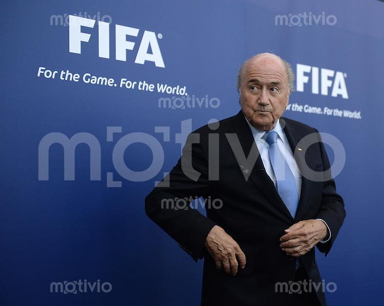 Football FIFA  International  03.09.2013 FIFA Round Table Discussion Palestine / Israel FIFA Praesident Joseph S. Blatter (Schweiz) beim Pressegespraech