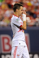 Seth Stammler (6) of the New York Red Bulls reacts to a missed scoring opportunity. Chivas USA defeated the New York Red Bulls 2-0 during a Major League Soccer match at Giants Stadium in East Rutherford, NJ, on August 15, 2009.