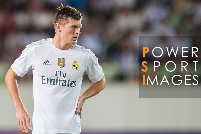 Toni Kroos of Real Madrid CF looks on during the FC Internazionale Milano vs Real Madrid  as part of the International Champions Cup 2015 at the Tianhe Sports Centre on 27 July 2015 in Guangzhou, China. Photo by Aitor Alcalde / Power Sport Images