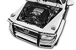 Car stock 2018 Mercedes Benz G-Class G550 5 Door SUV engine high angle detail view