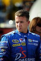 Oct. 9, 2009; Fontana, CA, USA; NASCAR Sprint Cup Series driver A.J. Allmendinger during qualifying for the Pepsi 500 at Auto Club Speedway. Mandatory Credit: Mark J. Rebilas-