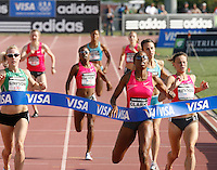 Hazel Clark winning the 800m in a time of 2:01.40 at the Adidas Track Classic 2009 on Saturday, May 16, 2009. Photo by Errol Anderson, The Sporting Image.net