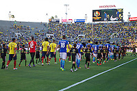 Action photo during the match Brazil vs Ecuador, Corresponding Group -B- America Cup Centenary 2016, at Rose Bowl Stadium<br /> <br /> Foto de accion durante el partido Brasil vs Ecuador, Correspondiante al Grupo -B-  de la Copa America Centenario USA 2016 en el Estadio Rose Bowl, en la foto: Vista General<br /> <br /> <br /> 04/06/2016/MEXSPORT/Victor Posadas.