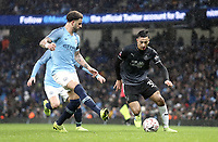 Burnley's Dwight McNeil under pressure from Manchester City's Kyle Walker<br /> <br /> Photographer Rich Linley/CameraSport<br /> <br /> Emirates FA Cup Fourth Round - Manchester City v Burnley - Saturday 26th January 2019 - The Etihad - Manchester<br />  <br /> World Copyright © 2019 CameraSport. All rights reserved. 43 Linden Ave. Countesthorpe. Leicester. England. LE8 5PG - Tel: +44 (0) 116 277 4147 - admin@camerasport.com - www.camerasport.com