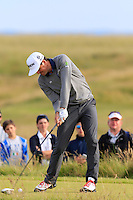 Keegan Bradley (USA) tees off the 15th tee during Thursday's Round 1 of the 145th Open Championship held at Royal Troon Golf Club, Troon, Ayreshire, Scotland. 14th July 2016.<br /> Picture: Eoin Clarke | Golffile<br /> <br /> <br /> All photos usage must carry mandatory copyright credit (&copy; Golffile | Eoin Clarke)