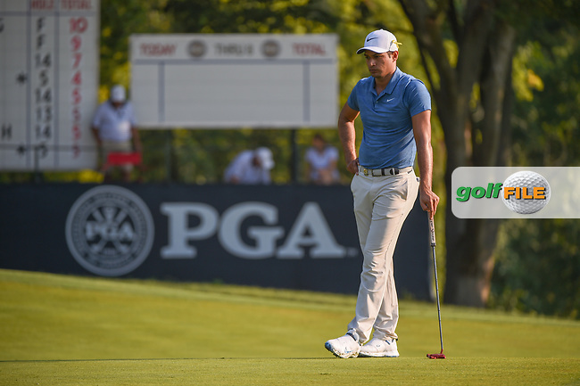 Julian Suri (USA) waits to putt on 9 during 2nd round of the 100th PGA Championship at Bellerive Country Club, St. Louis, Missouri. 8/11/2018.<br /> Picture: Golffile | Ken Murray<br /> <br /> All photo usage must carry mandatory copyright credit (© Golffile | Ken Murray)