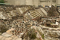 Aztec ruins of the Templo Mayor or Great Temple in downtown Mexico City