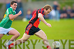 Darren O'Sullivan(Glenbeigh/Glencar) get the better of Bryan Costello(John Mitchels) in the Div 3 County League on Saturday evening at John Joe Sheehy Road, Tralee................................... ....