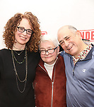 """Rebecca Taichman, Paula Vogel and David Dorfman attends the """"Indecent"""" Media Day at Playwrights Horizons on March 13, 2017 in New York City."""