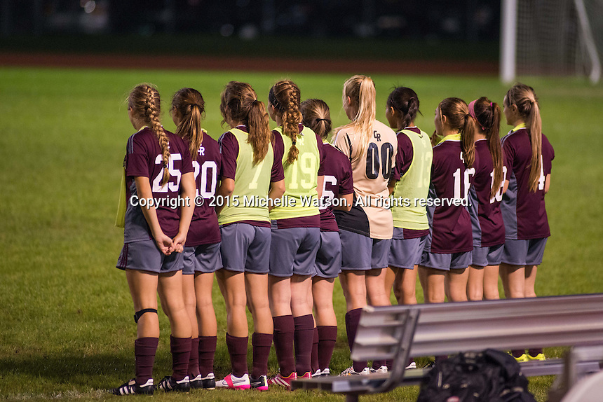 Cinco Ranch High School Girls Soccer remains undefeated with a 2-0 overtime win over Cypress Woods which advances the team to the regional quarterfinals.