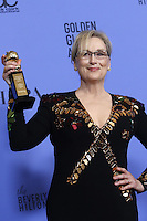 www.acepixs.com<br /> <br /> January 8 2017, LA<br /> <br /> Actress Meryl Streep appeared in the press room during the 74th Annual Golden Globe Awards at The Beverly Hilton Hotel on January 8, 2017 in Beverly Hills, California.<br /> <br /> By Line: Famous/ACE Pictures<br /> <br /> <br /> ACE Pictures Inc<br /> Tel: 6467670430<br /> Email: info@acepixs.com<br /> www.acepixs.com