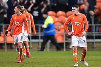 Blackpool's Callum Cooke and his team-mates react after Walsall's second goal<br /> <br /> Photographer Richard Martin-Roberts/CameraSport<br /> <br /> The EFL Sky Bet League One - Blackpool v Walsall - Saturday 10th February 2018 - Bloomfield Road - Blackpool<br /> <br /> World Copyright &not;&copy; 2018 CameraSport. All rights reserved. 43 Linden Ave. Countesthorpe. Leicester. England. LE8 5PG - Tel: +44 (0) 116 277 4147 - admin@camerasport.com - www.camerasport.com