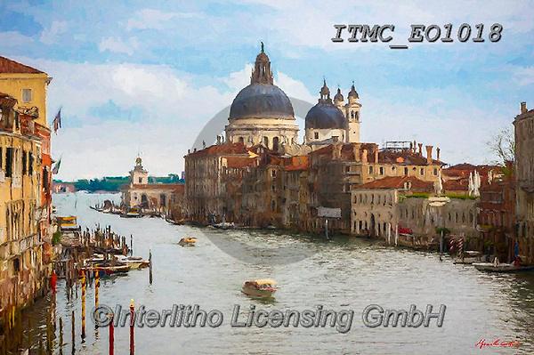 Marcello, LANDSCAPES, LANDSCHAFTEN, PAISAJES, paintings+++++,ITMCEO1018,#l#, EVERYDAY,venice,channels