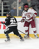 Spencer Young (PC - 21), Jake Horton (Harvard - 19) - The Harvard University Crimson defeated the Providence College Friars 3-0 in their NCAA East regional semi-final on Friday, March 24, 2017, at Dunkin' Donuts Center in Providence, Rhode Island.