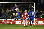 Goalkeeper Jay Lynch of Salford City makes a save - Salford City vs Hartlepool United - The Emirates FA Cup - Moor Lane - Salford - 04/12/2015 Pic Philip Oldham/SportImage