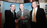 Repro Free.Philip Nolan Topflight, Tony McCullagh Northside News and Eoghan Corry Travel Extra..Tony McCullagh winner of Topflight & Gastein(Sponsor) Skiing Journalist of the Year Award.Travel Extra,Travel Journalist of the Year Awards at the Thomas Prior House Ballsbridge. The event which was sponsored by The Spanish Tourist board gave out 12 awards for different catagories. .This year saw a huge increase in the number of submissions from previous years, displaying the creativity and continuning innovation of travel and tourism journalism in Ireland..Collins Photos 25/1/13