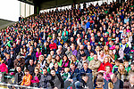 The stand full od spectators at the Kilmoyley v Ballyduff in the County Senior Hurling Final at Austin Stack Park on Sunday.