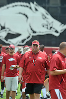 NWA Democrat-Gazette/MICHAEL WOODS &bull; @NWAMICHAELW<br /> University of Arkansas coach Bret Bielema watches the Razorbacks practice Thursday August 6, 2015 in Fayetteville.