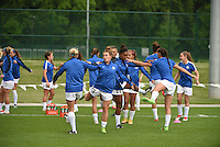 Kansas City, MO - Friday May 13, 2016: FC Kansas City  before the game. FC Kansas City and the Chicago Red Stars played to a 0-0 tie during a regular season National Women's Soccer League (NWSL) match at Swope Soccer Village.