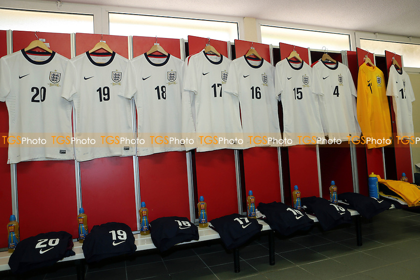 England dressing room prior to the match against Brazil - England Under-20 vs Brazil Under-20 - Toulon Tournament Group B Football at Stad L Hon, Saint Raphael, France - 26/05/14 - MANDATORY CREDIT: Paul Dennis/TGSPHOTO - Self billing applies where appropriate - contact@tgsphoto.co.uk - NO UNPAID USE