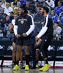 SIOUX FALLS, SD - MARCH 7: The IPFW Mastodons bench celebrates early in the first half against South Dakota State Jackrabbits at the 2020 Summit League Basketball Championship in Sioux Falls, SD. (Photo by Miranda Sampson/Inertia)