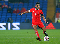 Neil Taylor of Wales during the international friendly soccer match between Wales and Panama at Cardiff City Stadium, Cardiff, Wales, UK. Tuesday 14 November 2017.