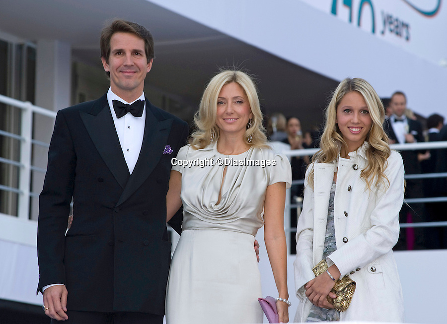 """CROWN PRINCE PAVLOS AND CROWN PRINCESS MARIE CHANTAL OF GREECE WITH DAUGHTER PRINCESS MARIA-OLYMPIA.attend the 10th ARK Gala Dinner, Kensington Palace Gardens, London_09/06/2011.This was the couple's first official engagement since the wedding.Mandatory Photo Credit: ©Dias/DIASIMAGES..**ALL FEES PAYABLE TO: """"NEWSPIX INTERNATIONAL""""**..PHOTO CREDIT MANDATORY!!: DIASIMAGES(Failure to credit will incur a surcharge of 100% of reproduction fees)..IMMEDIATE CONFIRMATION OF USAGE REQUIRED:.DiasImages, 31a Chinnery Hill, Bishop's Stortford, ENGLAND CM23 3PS.Tel:+441279 324672  ; Fax: +441279656877.Mobile:  0777568 1153.e-mail: info@diasimages.com"""