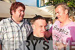 24. PICTURES 5731-5758 (5734)..AID: Jockey Robert Power has his head shaved by barber Jack Chute, in aid of the Kerry Hospice, in Christy Walshs The Well Bar in Listowel on Sunday evening...