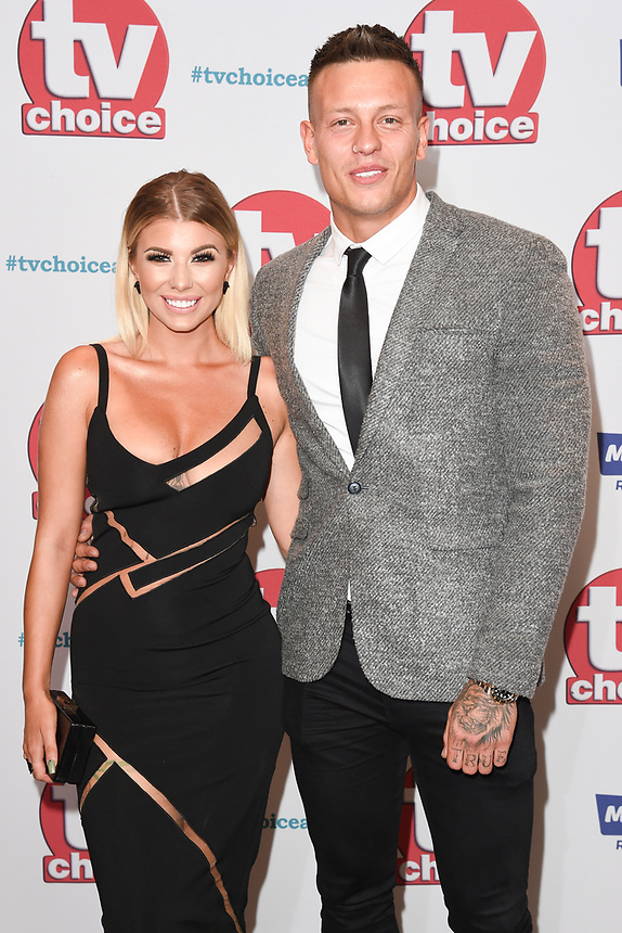 Olivia Buckland and Alex Bowen<br /> arriving for the TV Choice Awards 2017 at The Dorchester Hotel, London. <br /> <br /> <br /> ©Ash Knotek  D3303  04/09/2017