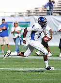 Armwood Hawks quarterback Darryl Richardson #6 scrambles during the first quarter of the Florida High School Athletic Association 6A Championship Game at Florida's Citrus Bowl on December 17, 2011 in Orlando, Florida.  The score at halftime is Armwood 16 - Miami Central 14.  (Photo By Mike Janes Photography)