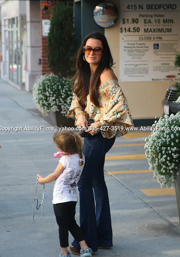 .AbilityFilms@yahoo.com.805-427-3519.www.AbilityFilms.com...Feb 23rd 2012..Kyle Richards out in Beverly Hills California