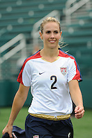 Heather Mitts (2) of the United States (USA). The United States (USA) Women's National Team defeated Canada (CAN) 1-0 during an international friendly at Marina Auto Stadium in Rochester, NY, on July 19, 2009.