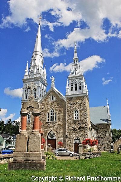 Saint-Charles-Borromee Catholic Chruch in Grandines, Quebec