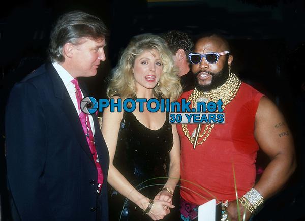 #Donald Trump & #Marla Trump #Mr. T 1991<br /> Photo By John BarrettPHOTOlink.net