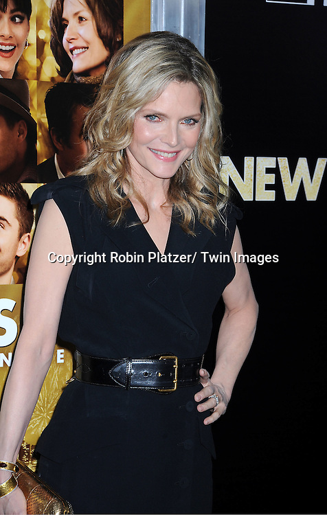 """Michelle Pfeiffer attends The Special Screening of """" New Year's Eve"""" on ..December 7, 2011 at The Ziegfeld Theatre in New York City. The evening is sponsored by AT & T and is benefitting The Tribeca Film Institute ."""